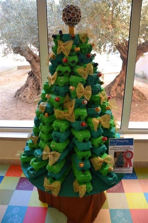 4h christmas tree from old egg carton alternative egg tree recycled ideas trees trees and egg cartons