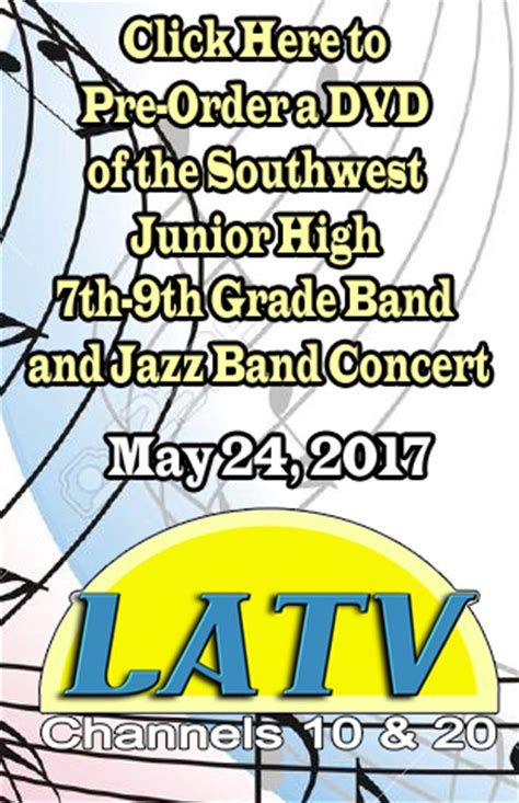 pre order: dvd southwest jr. high 7th 9th grade band and