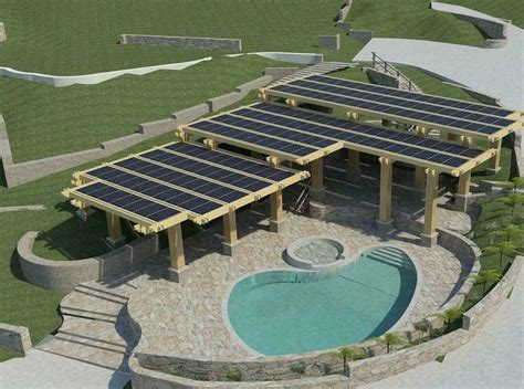Photovoltaic Pergola Ryan Levis Architect Inc Solar Panel Pergola