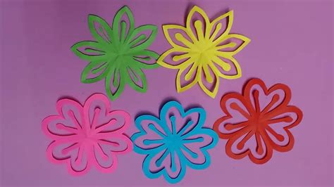 How To Make Colored Paper Flowers - how to make beautiful flower with color paper diy paper