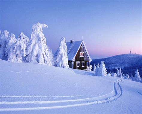 house snow wallpaper snow mountain house
