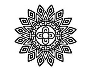 Mandala Flashes Coloring Page  Coloringcrewcom sketch template