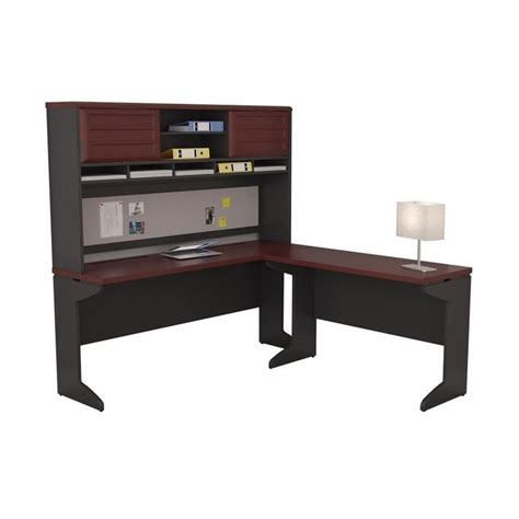 altra pursuit u shaped desk altra furniture pursuit l shaped desk with hutch in cherry