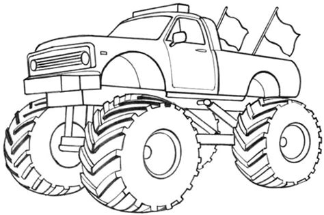 Big Car Coloring Page | flat car tire coloring pages flat car tire coloring pages