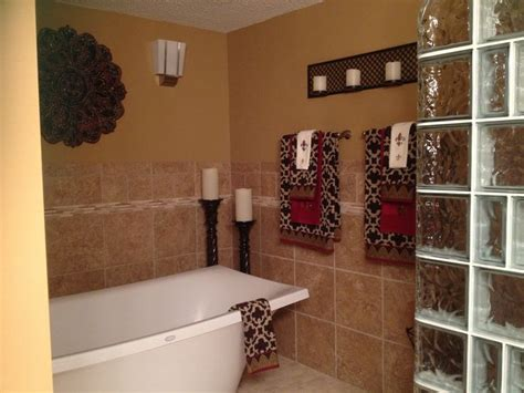 red and brown bathroom ideas gold red and brown bathroom home deco pinterest