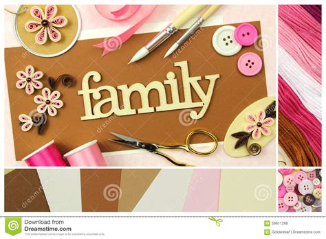 scrapbooking and card supplies scrapbooking tools and materials stock photo image 59611268