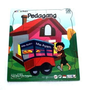 Mainan Edukatif Edukasi Anak Puzzle Stiker Hewan Ternak Peternakan puzzle stiker profesi pedagang mainan kayu edukasi anak