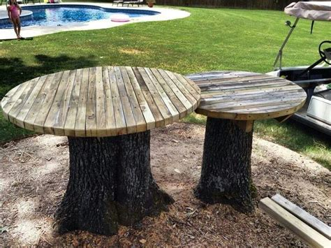 tree stump bench ideas tree stump tables ideas for moms deck pinterest