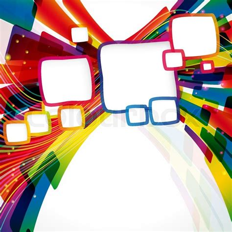 Multicolor abstract bright background with frames