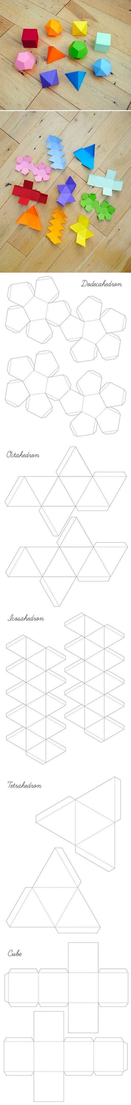 how to make geometrical box templates step by step diy