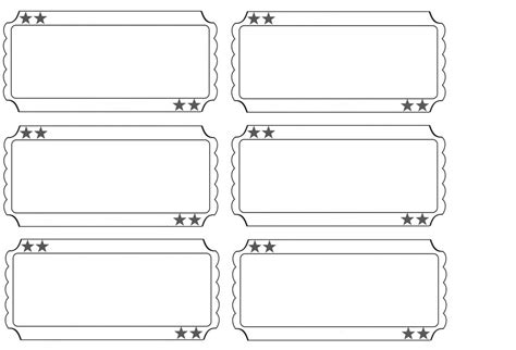printable carnival tickets templates 5 best images of free carnival printable ticket templates