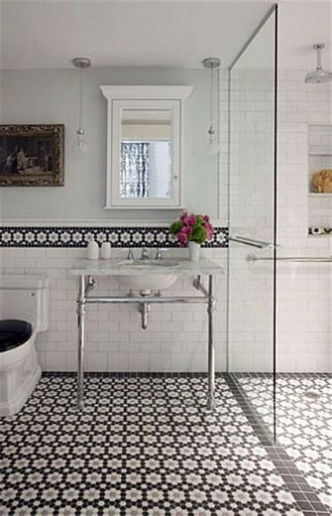 bathroom tiles mosaic border 29 ideas to use all 4 bahtroom border tile types digsdigs