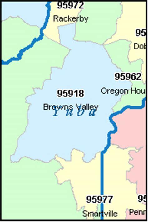zip code map yuba county yuba county california digital zip code map