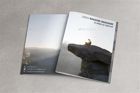 Tabbed A5 Magazine Brochure Mock Up By Sealord Graphicriver Tabbed Brochure Template