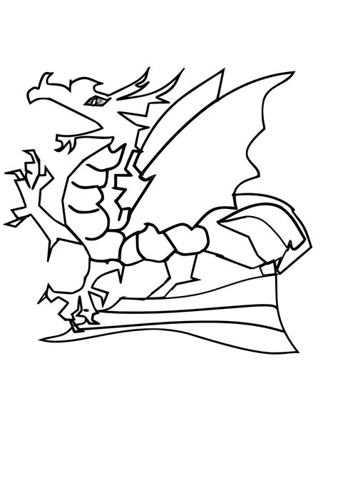 free coloring pages of baby dragon