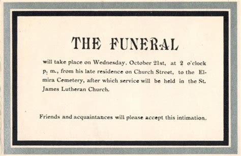 funeral attendance card template a grave interest mourning cards the of