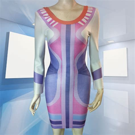 Dress Bodycon Stripe Blue Purple Reqame mini white striped bandage bodycon dress with sleeve