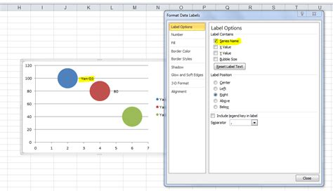 format legend excel 2007 impossible to put legend along side each bubble in excel