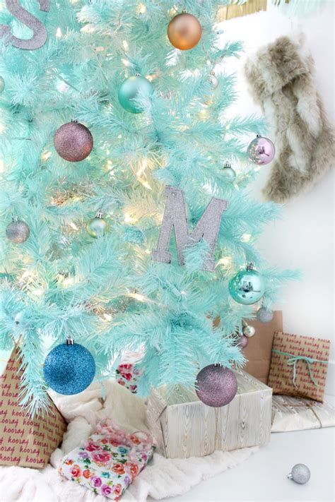diy mint green christmas tree spray painted tree a