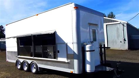 kitchen sheved outside custom build concession trailer for