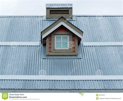 Small Dormer Metal Roof Small Dormer Window Architecture Detail Stock