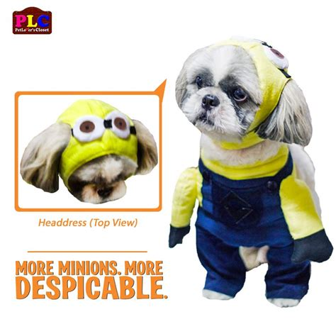 minion costumes for dogs despicable me minion costume by petlovers closet philippines