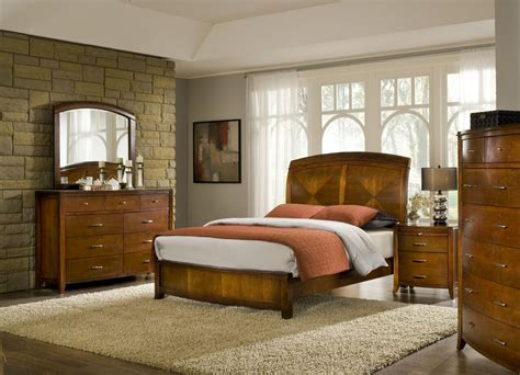 4 brighton solid wood low profile bedroom set usa