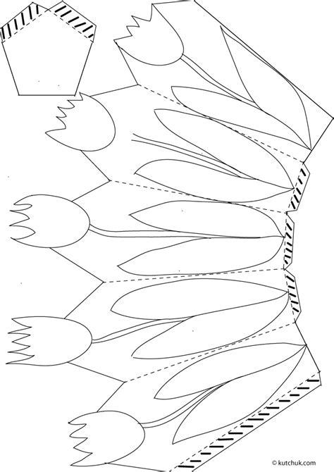 craft templates free easter craft printables tulip basket print the tulip