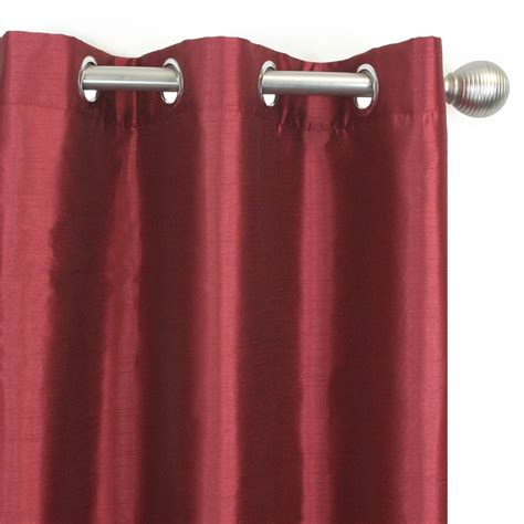 lined curtain panels with grommets lined grommet curtain panel isabel red 54 x 85