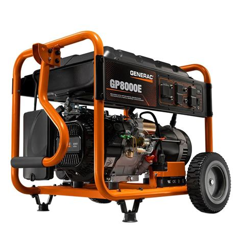 generac 8 000 watt gasoline powered electric start