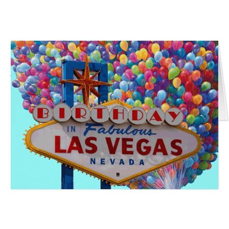 Las Vegas Birthday Card Birthday In Fabulous Las Vegas Card Zazzle