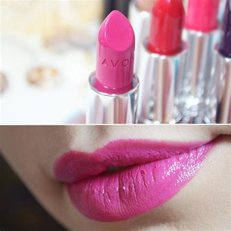 Eyeshadow Viva Pink pin avon ultra color rich lipstick review photos swatches photo on
