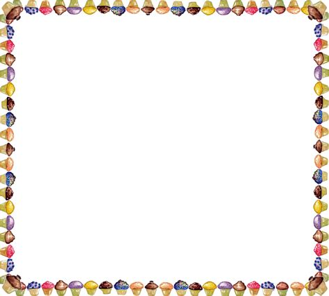 border clipart muffin clipart border pencil and in color muffin clipart