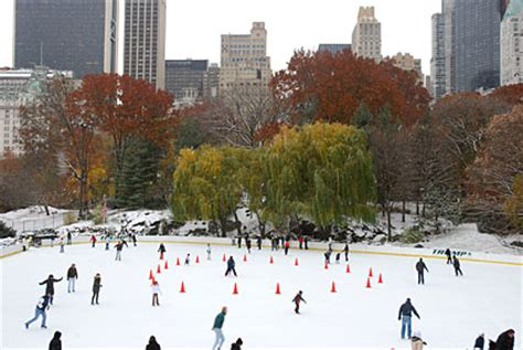 photos of central park in the snow, manhattan, new york