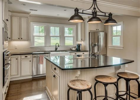 Kitchen With Island Images excellent white modern kitchen features rectangle shape