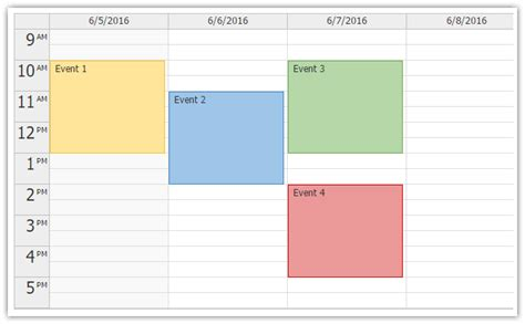 Open Calendar Html5 Event Calendar Scheduler Codeproject