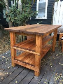 wooden kitchen island table built rustic kitchen island