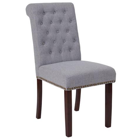 Grey Parsons Chair - flash furniture hercules light gray fabric parsons chair