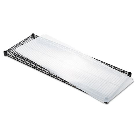 shelf liners for wire shelving clear plastic 48w x 18d
