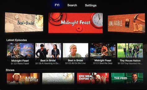 fyi channel shows apple tv picks up hallmark card s feeln and a e s fyi channels
