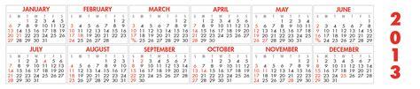 printable horizontal calendar calendar template 2016