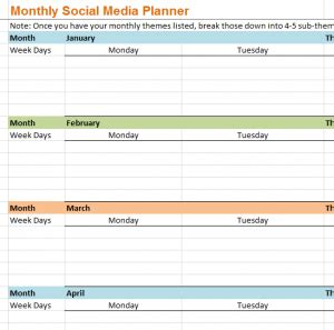 monthly business plan template business plan templates business marketing plan