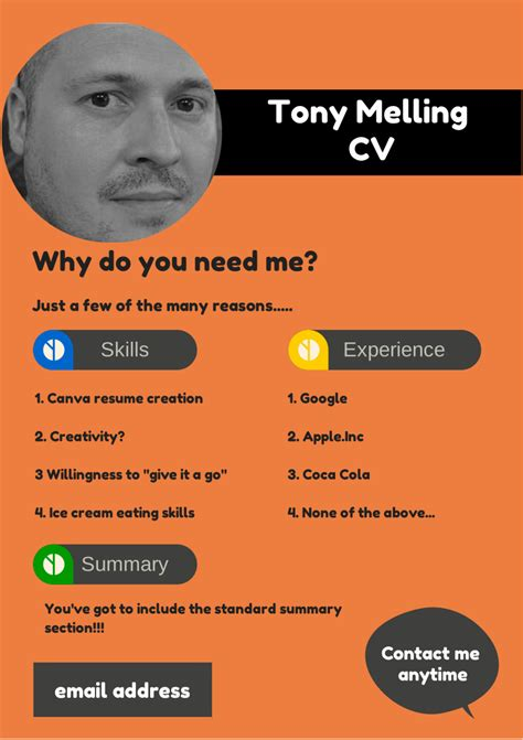 Library Job Resume by Create A Cv Resume On Canva Tonymelling Wordpress Com