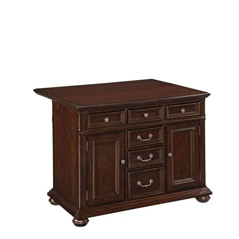 home styles colonial classic 48 in wood top kitchen