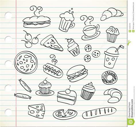 doodle bug foods 乱画食物 向量例证 图片 包括有 汉堡 苹果 三明治 干酪 背包 夹子 巴西 苹果酱 新月形面包