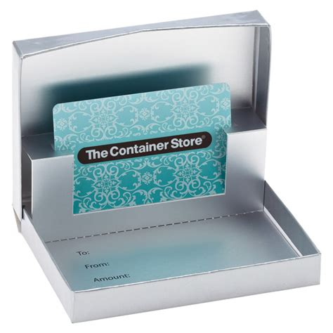 Gift Card Holder Box - matte silver gift card box the container store