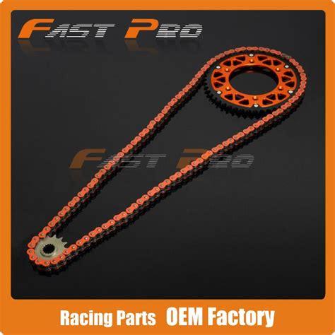 Ktm Chain And Sprockets Orange 120l Chain Front Rear Sprockets Set For Ktm Exc