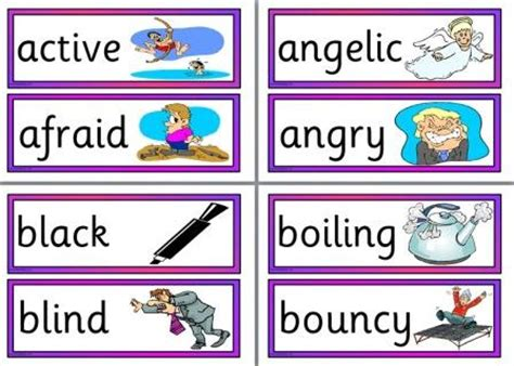 free printable adjective poster adjectives posters printables images