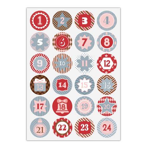 Zahlen Aufkleber Grau by 24 Grafische Advents Aufkleber Mit Den Zahlen 1 24 In