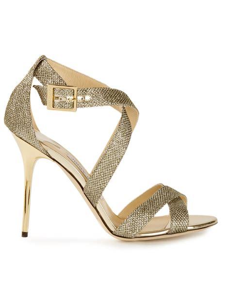 jimmy choo gold sandals jimmy choo lottie sandals in gold metallic lyst